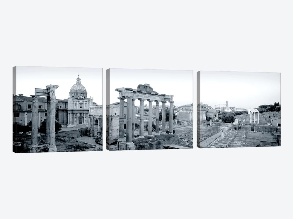 Ruins Of An Old Building, Rome, Italy #2 by Panoramic Images 3-piece Canvas Art