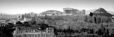Acropolis In B W Athens Greece Canvas Artwork Icanvas