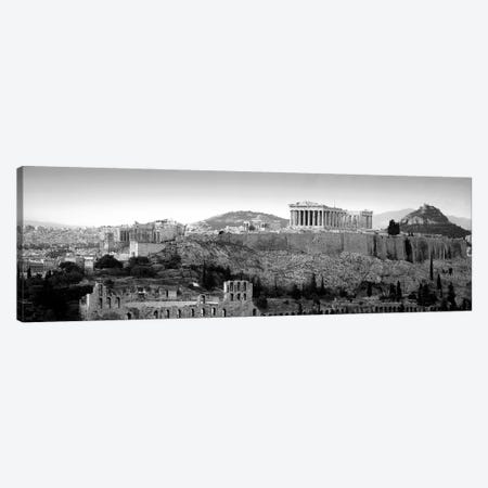 Acropolis In B&W, Athens, Greece Canvas Print #PIM5017} by Panoramic Images Canvas Art
