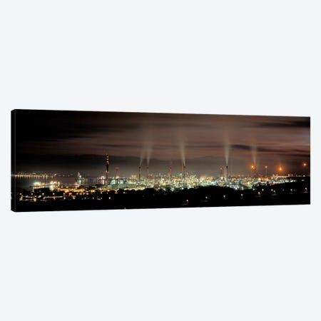 Gibraltar-San Roque Refinery At Night, San Roque, Cadiz, Andalusia, Spain Canvas Print #PIM5021} by Panoramic Images Canvas Art