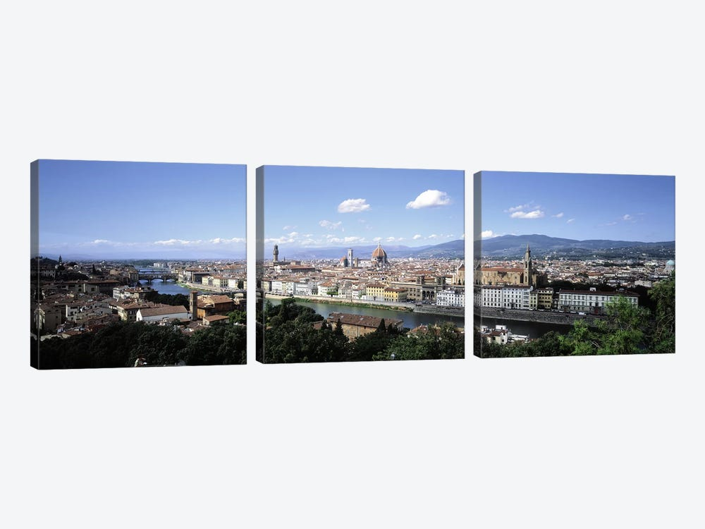 High-Angle View Of Historic Centre, Florence, Tuscany, Italy by Panoramic Images 3-piece Canvas Art