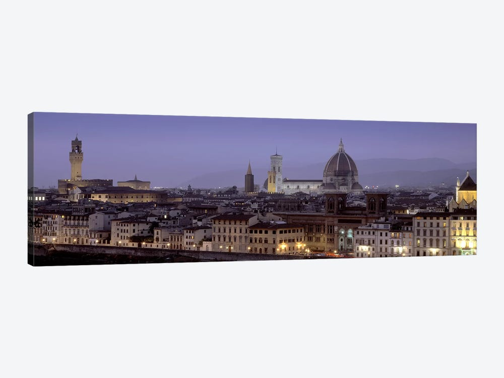 Historic Centre At Dusk, Florence, Tuscany, Italy by Panoramic Images 1-piece Canvas Artwork