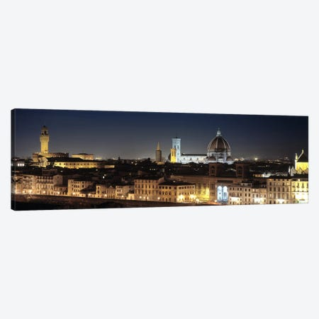 Old Town At Night, Florence, Tuscany, Italy Canvas Print #PIM5025} by Panoramic Images Canvas Print