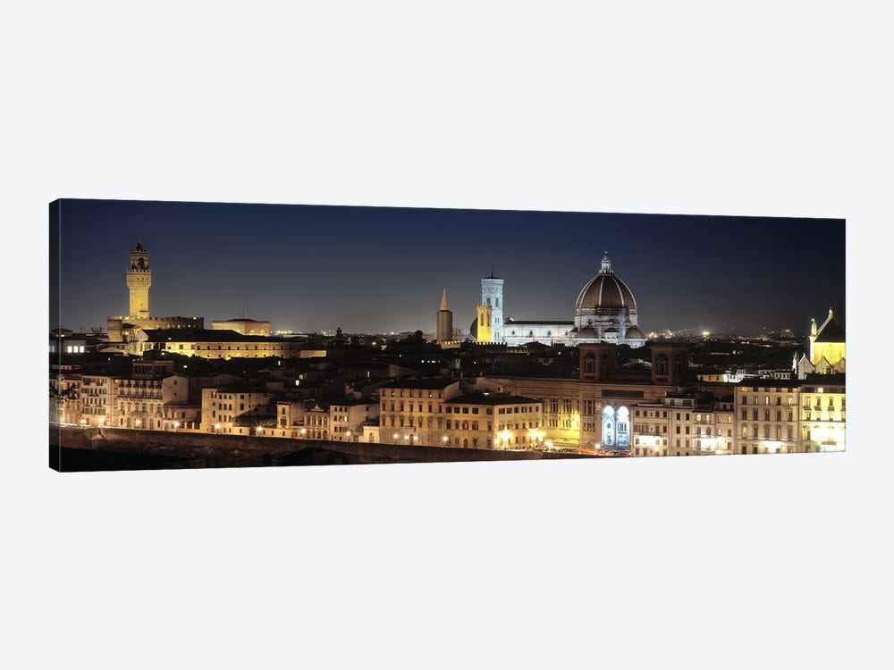 Old Town At Night, Florence, Tuscany, Italy by Panoramic Images 1-piece Art Print