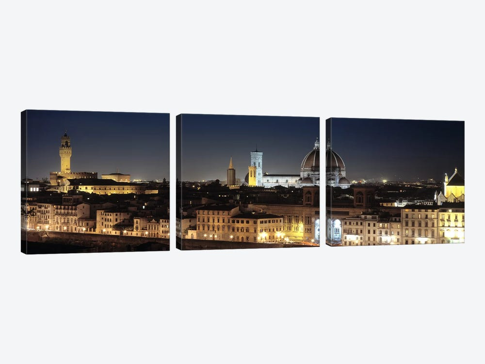 Old Town At Night, Florence, Tuscany, Italy by Panoramic Images 3-piece Art Print