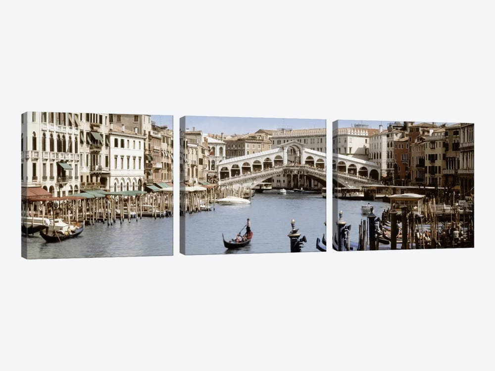 Rialto Bridge, Venice, Veneto, Italy by Panoramic Images 3-piece Art Print