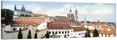 Church in a city, St. Nicholas Church, Mala Strana, Prague, Czech Republic Canvas Art Print