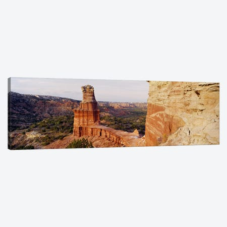 Lighthouse Rock, Palo Duro Canyon State Park, Texas, USA 3-Piece Canvas #PIM5058} by Panoramic Images Canvas Art Print