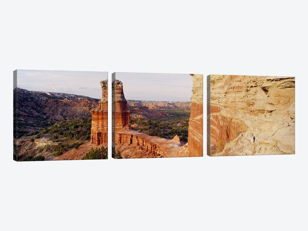 Lighthouse Rock, Palo Duro Canyon State Park, Texas, USA by Panoramic Images 3-piece Canvas Print