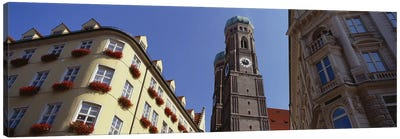 Low Angle View Of A Cathedral, Frauenkirche, Munich, Germany Canvas Art Print