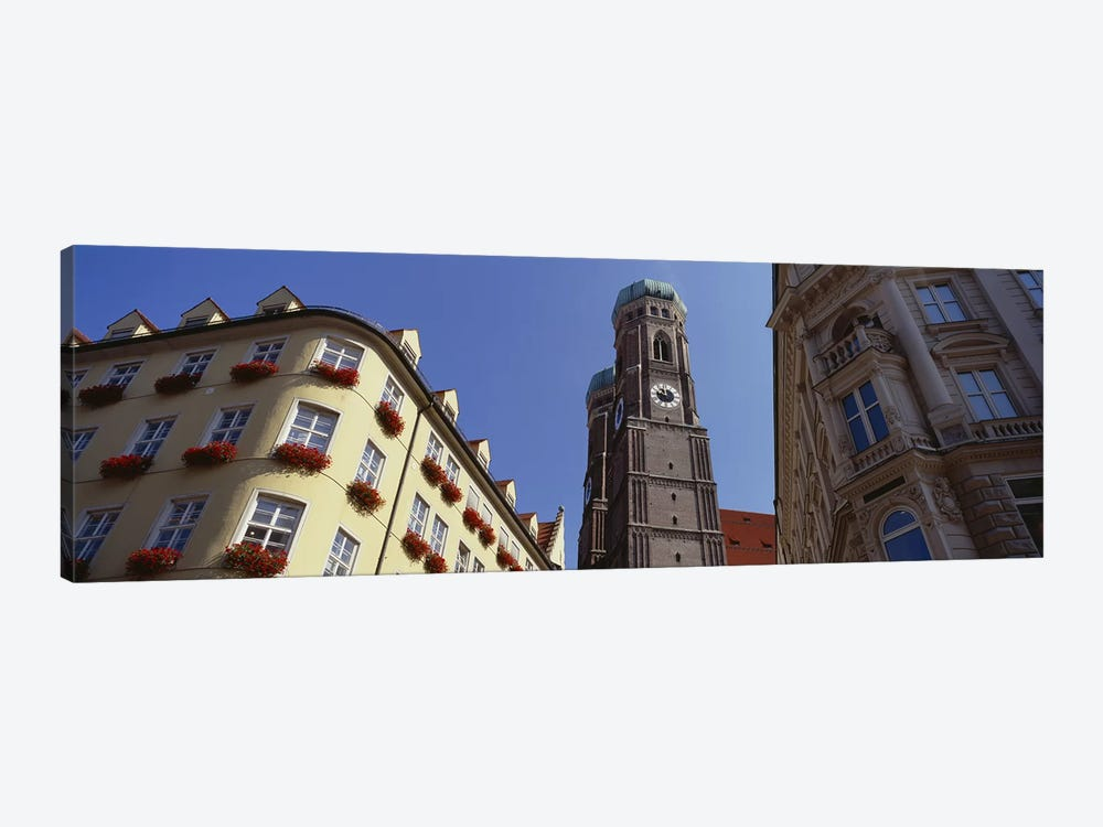 Low Angle View Of A Cathedral, Frauenkirche, Munich, Germany by Panoramic Images 1-piece Canvas Art Print