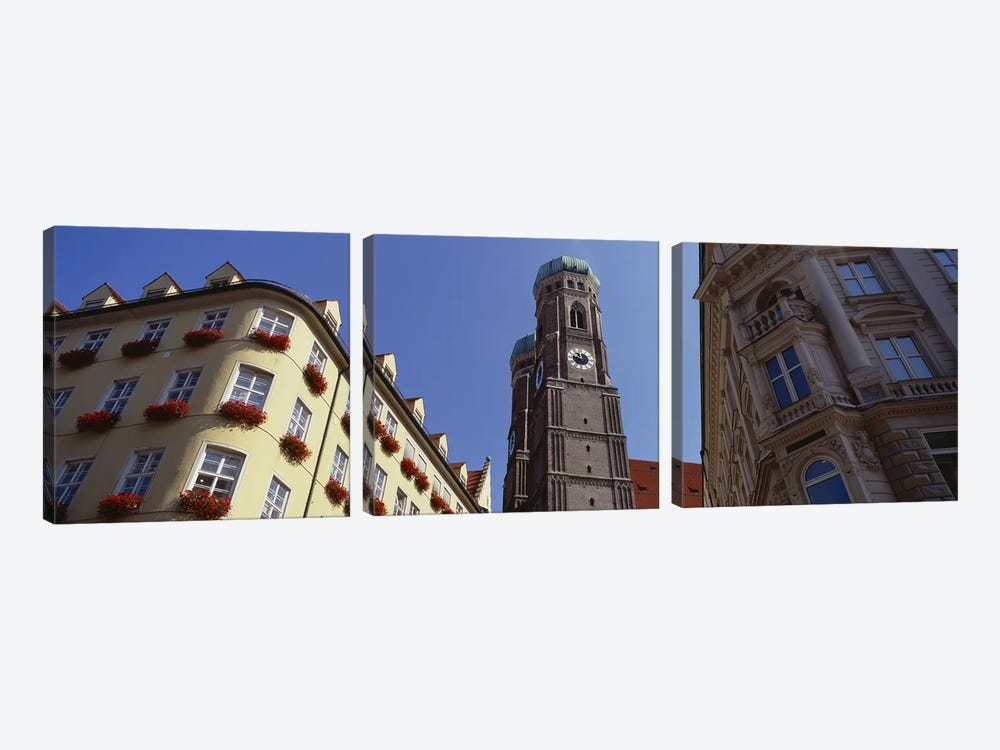 Low Angle View Of A Cathedral, Frauenkirche, Munich, Germany by Panoramic Images 3-piece Canvas Print