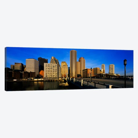 Skyscrapers in a city, Boston, Massachusetts, USA Canvas Print #PIM507} by Panoramic Images Canvas Art