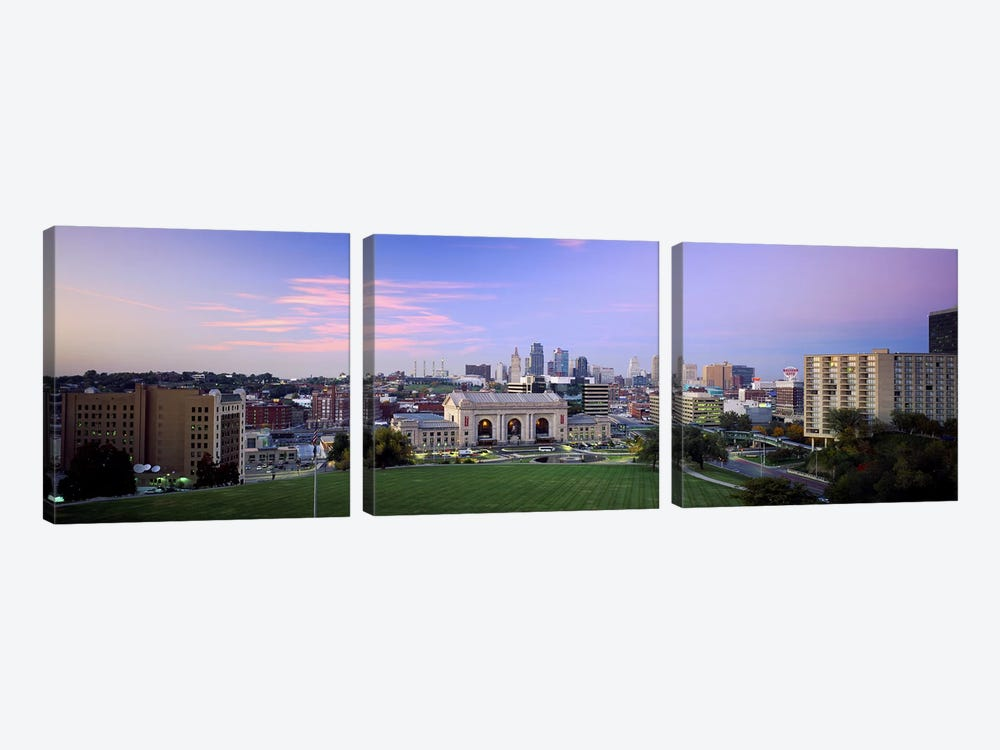 High Angle View of A CityKansas City, Missouri, USA by Panoramic Images 3-piece Canvas Art Print