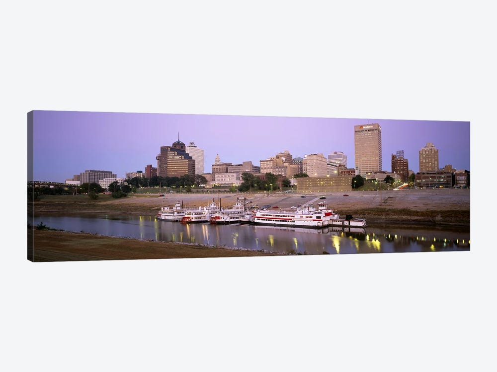 Buildings At The waterfront, Memphis, Tennessee, USA by Panoramic Images 1-piece Canvas Wall Art