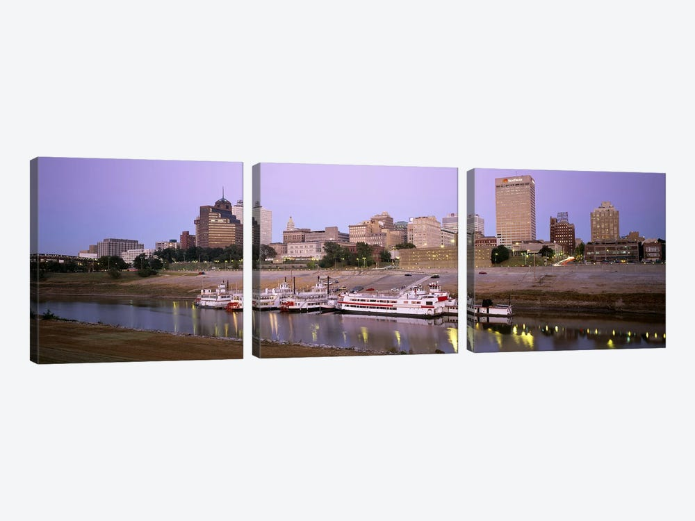 Buildings At The waterfront, Memphis, Tennessee, USA by Panoramic Images 3-piece Canvas Wall Art