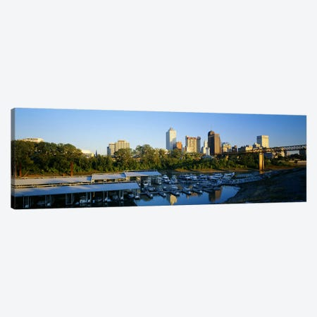 City At DuskMemphis, Tennessee, USA Canvas Print #PIM5087} by Panoramic Images Art Print