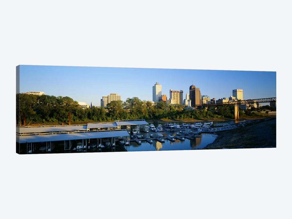 City At DuskMemphis, Tennessee, USA by Panoramic Images 1-piece Art Print