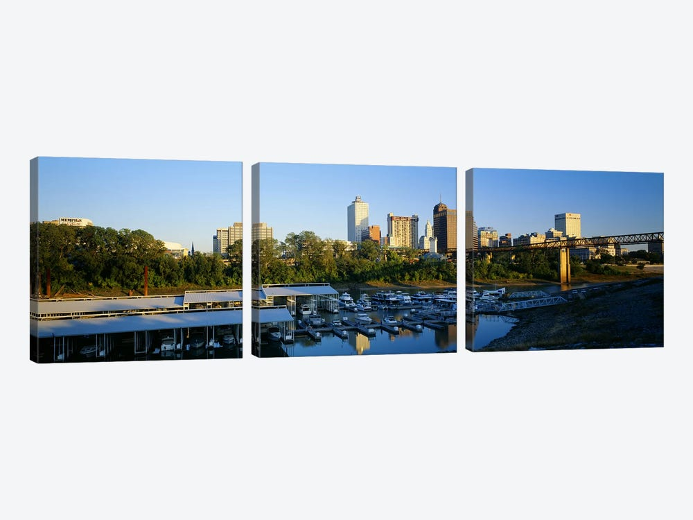 City At DuskMemphis, Tennessee, USA by Panoramic Images 3-piece Canvas Print