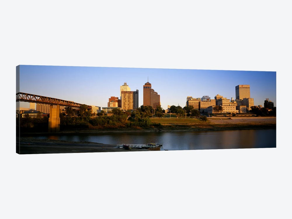Buildings At The waterfront, Memphis, Tennessee, USA by Panoramic Images 1-piece Canvas Art