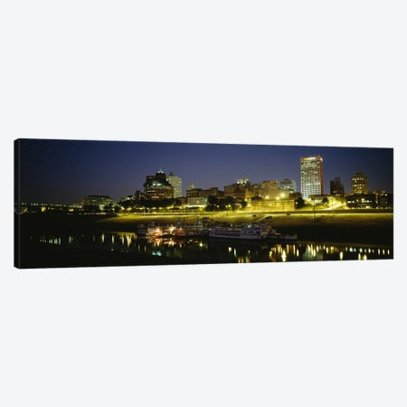 Buildings Lit Up At DuskMemphis, Tennessee, USA Canvas Print #PIM5089} by Panoramic Images Canvas Wall Art