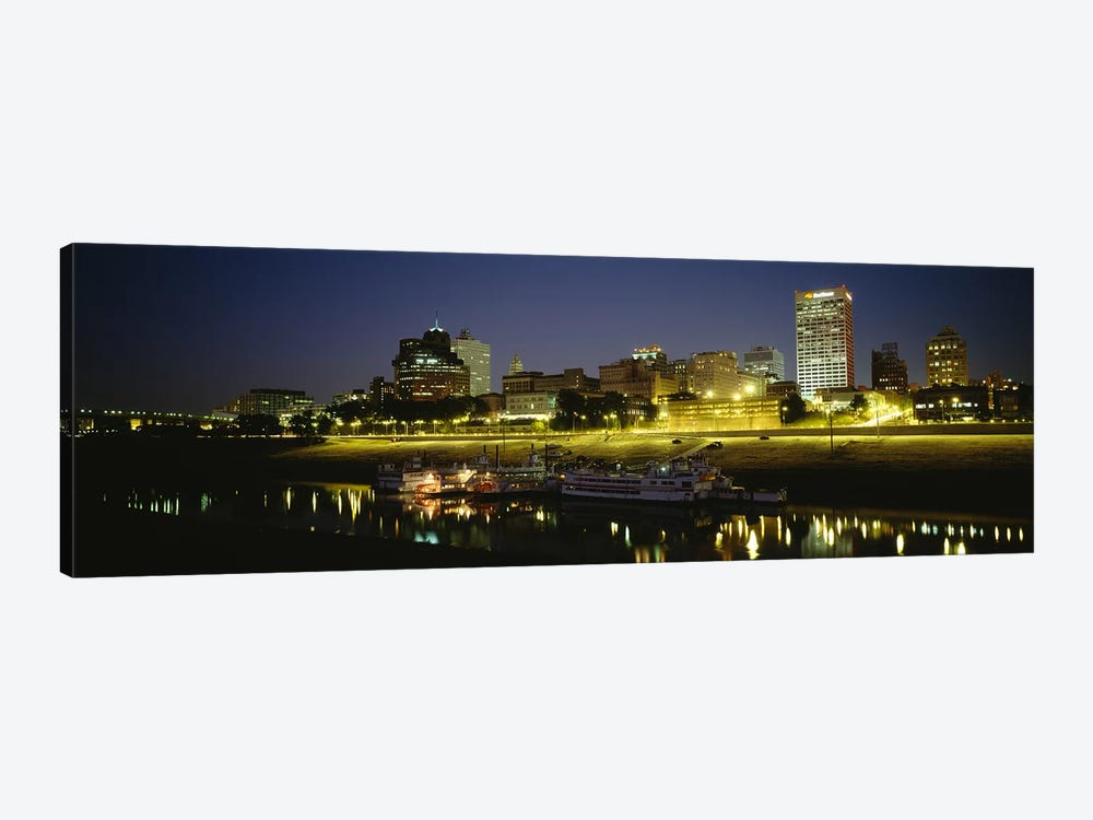 Buildings Lit Up At DuskMemphis, Tennessee, USA by Panoramic Images 1-piece Art Print