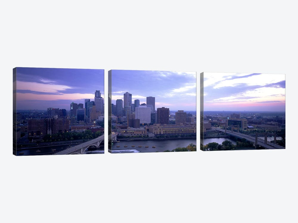 Buildings In A CityMinneapolis, Minnesota, USA by Panoramic Images 3-piece Canvas Print