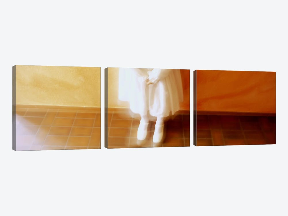 High Angle View Of A Girl Standing In Front Of A Wall, Germany by Panoramic Images 3-piece Canvas Art