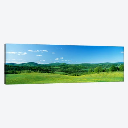 Hilly Farmland, Peacham, Caledonia County, Vermont, USA Canvas Print #PIM50} by Panoramic Images Art Print