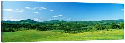 Hilly Farmland, Peacham, Caledonia County, Vermont, USA Canvas Art Print