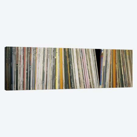 Vintage Vinyl Record Collection Canvas Print #PIM5100} by Panoramic Images Canvas Print