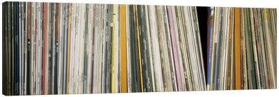 Vintage Vinyl Record Collection Canvas Art Print