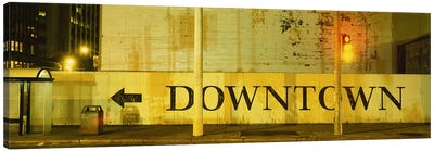 Downtown Sign Printed On A Wall, San Francisco, California, USA by Panoramic Images Art Print