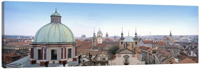 Church in a city, Prague, Czech Republic Canvas Art Print