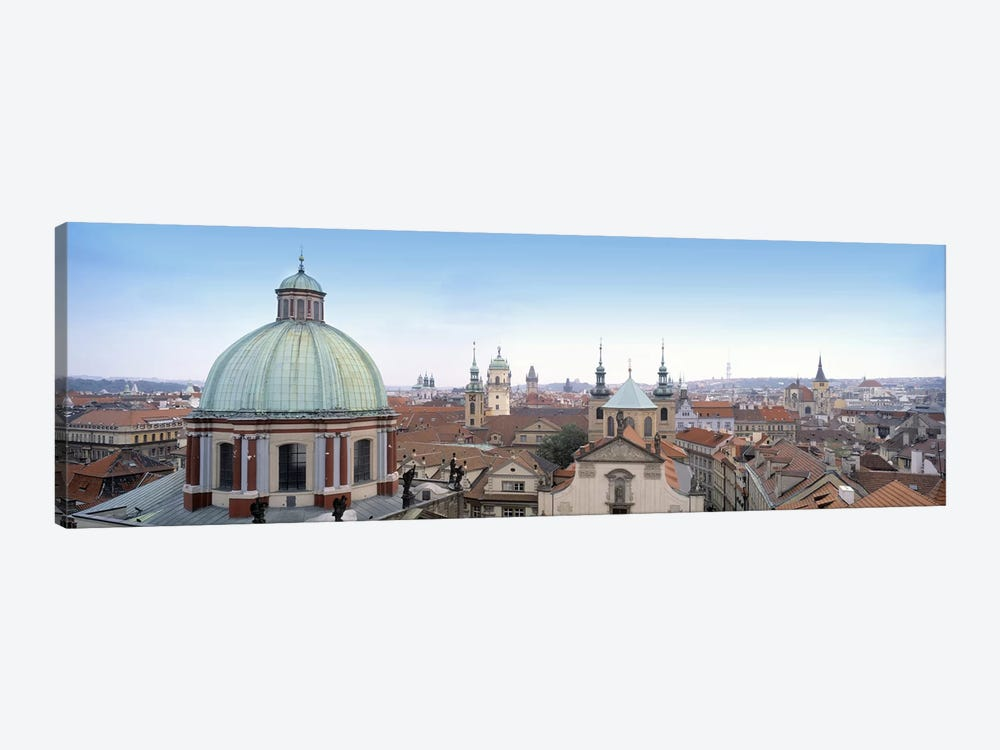 Church in a city, Prague, Czech Republic by Panoramic Images 1-piece Canvas Art Print