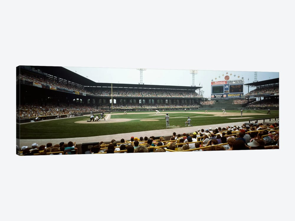 Spectators watching a baseball match in a stadium, U.S. Cellular Field, Chicago, Cook County, Illinois, USA by Panoramic Images 1-piece Art Print