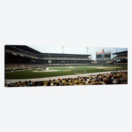 Spectators watching a baseball match in a stadium, U.S. Cellular Field, Chicago, Cook County, Illinois, USA Canvas Print #PIM510} by Panoramic Images Canvas Art