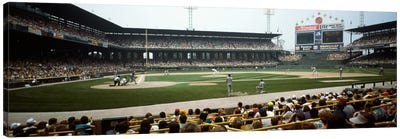Spectators watching a baseball match in a stadium, U.S. Cellular Field, Chicago, Cook County, Illinois, USA Canvas Art Print