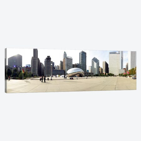 Buildings in a city, Millennium Park, Chicago, Illinois, USA Canvas Print #PIM5113} by Panoramic Images Canvas Artwork