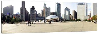 Buildings in a city, Millennium Park, Chicago, Illinois, USA Canvas Print #PIM5113