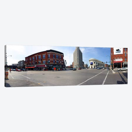 Buildings in a city, Wicker Park and Bucktown, Chicago, Illinois, USA Canvas Print #PIM5114} by Panoramic Images Art Print
