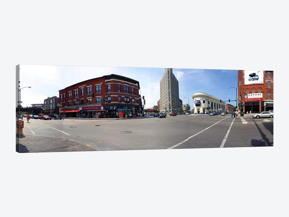 Buildings in a city, Wicker Park and Bucktown, Chicago, Illinois, USA by Panoramic Images 1-piece Canvas Wall Art