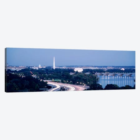 Evening Washington DC Canvas Print #PIM511} by Panoramic Images Canvas Artwork