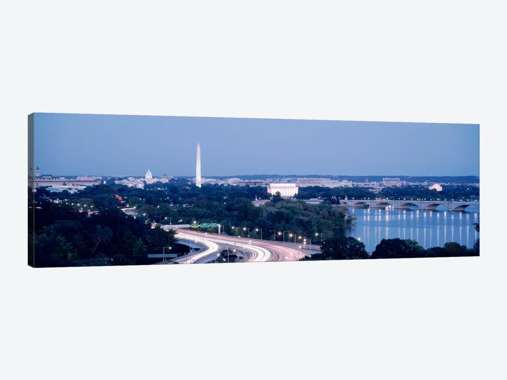 Evening Washington DC by Panoramic Images 1-piece Canvas Wall Art