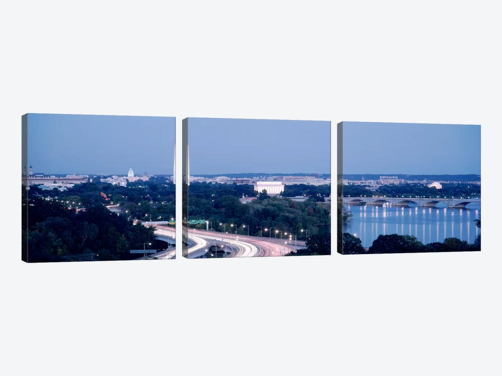 Evening Washington DC by Panoramic Images 3-piece Canvas Artwork