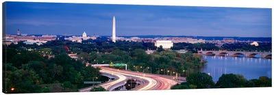 High angle view of a cityscape, Washington DC, USA Canvas Print #PIM512
