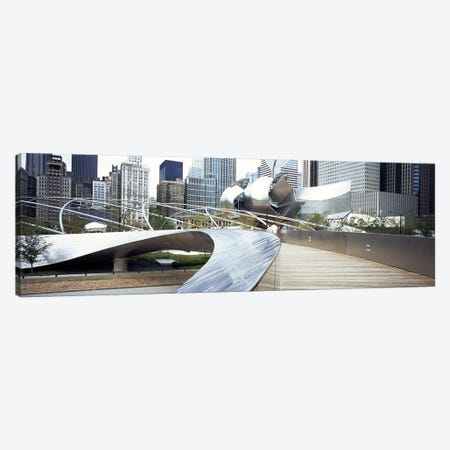 Footbridge in a park, Millennium Park, Chicago, Illinois, USA Canvas Print #PIM5135} by Panoramic Images Art Print
