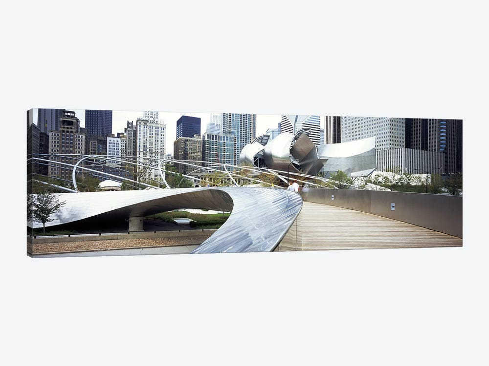 Footbridge in a park, Millennium Park, Chicago, Illinois, USA by Panoramic Images 1-piece Art Print