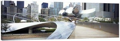 Footbridge in a park, Millennium Park, Chicago, Illinois, USA Canvas Art Print