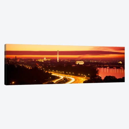 SunsetAerial, Washington DC, District of Columbia, USA Canvas Print #PIM513} by Panoramic Images Canvas Art